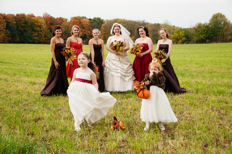 fall backyard wedding ohio