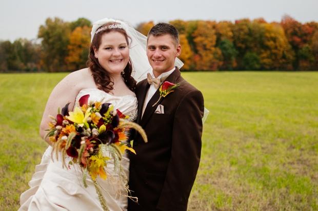 fall backyard wedding ohio