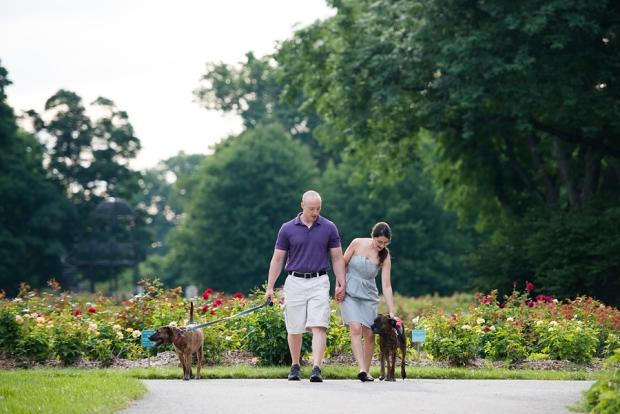 park of roses engagement columbus ohio